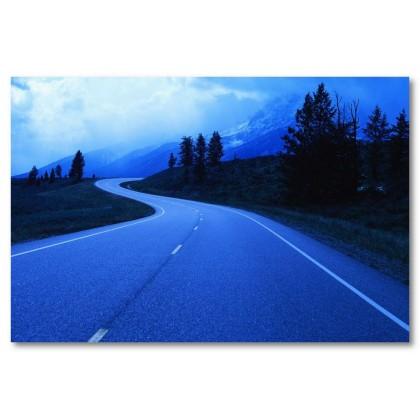 Αφίσα (μπλε, δρόμος, νύχτα)
